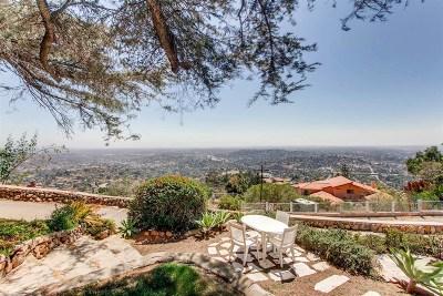 La Mesa Single Family Home For Sale: 4890 Mount Helix Dr