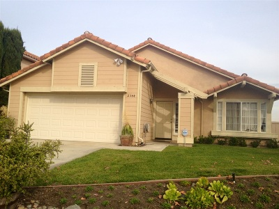 Escondido Single Family Home Back On Market: 2344 Shadyridge