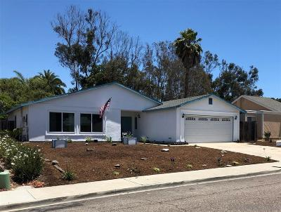 Oceanside Single Family Home For Sale: 1942 Comanche St