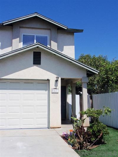 San Diego County Single Family Home For Sale: 513 1/2 Emory St.