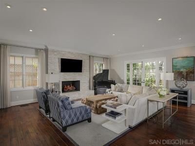 La Jolla Single Family Home For Sale: 7695 Hillside Drive