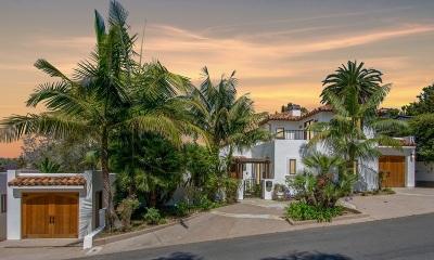 La Jolla Single Family Home For Sale: 7721 Hillside Dr