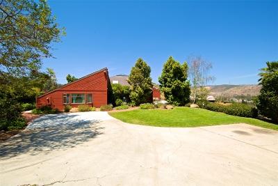 Riverside County, San Diego County Single Family Home For Sale: 11869 Hi Ridge Rd