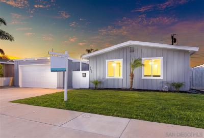 Clairemont Single Family Home For Sale: 3634 Morlan St