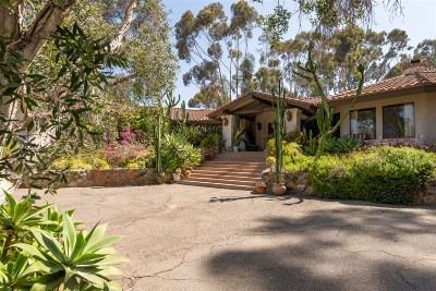 Rancho Santa Fe Single Family Home For Sale: 6997 Via Del Charro