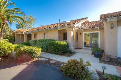 Escondido Single Family Home For Sale: 311 Saratoga Glen