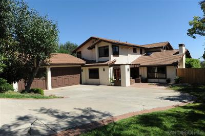 Poway Single Family Home For Sale: 13633 Del Poniente Rd