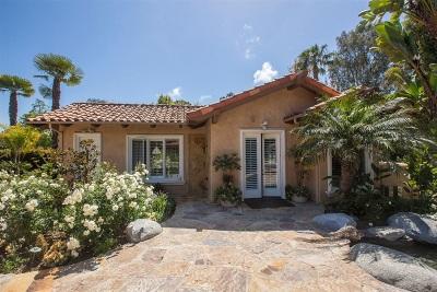 Rancho Santa Fe Rental For Rent: 17550 Via De Fortuna