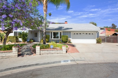Escondido Single Family Home For Sale: 1420 Jeffrey Pl.