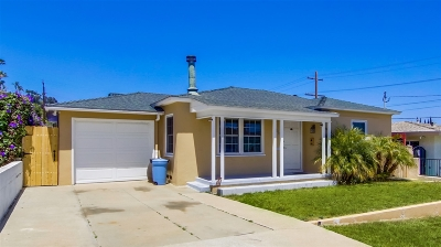 San Diego County Single Family Home For Sale: Oliphant St