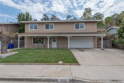 Single Family Home For Sale: 5635 Fontaine St