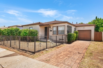 San Diego Single Family Home For Sale: 2615 54th Street