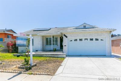 San Diego Single Family Home For Sale: 1611 Rowan Street