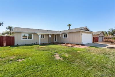Escondido CA Single Family Home For Sale: $469,999