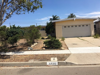 Single Family Home For Sale: 3726 Clairemont Mesa