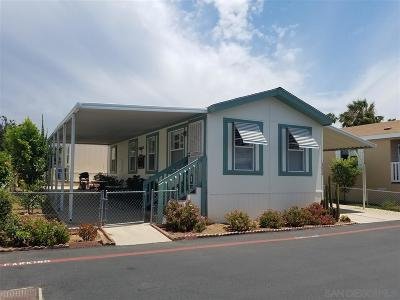 San Diego County Mobile/Manufactured For Sale: 14039 Gardenia Ave. #234