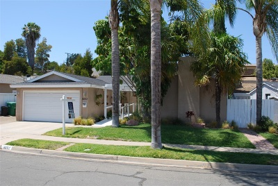 San Diego County Single Family Home For Sale: 8652 Tommy Drive