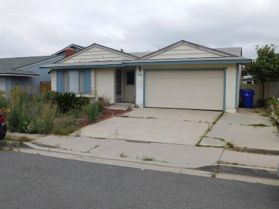 San Diego Single Family Home For Sale: 3990 Coldwell Ln