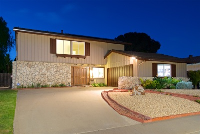 San Diego Single Family Home For Sale: 3286 Mercer Lane