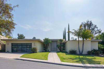San Diego Single Family Home For Sale: 5243 Le Barron Rd