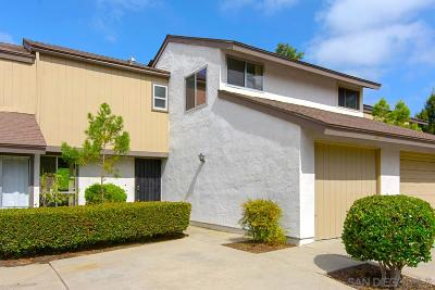 Escondido Townhouse For Sale: 309 Ranchwood Gln