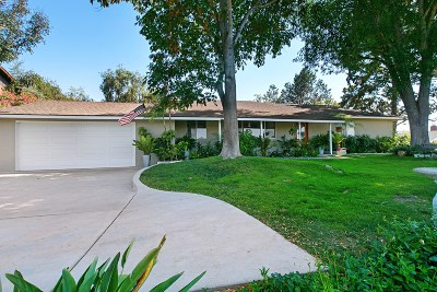 Poway Single Family Home For Sale: 14019 Donart Dr.