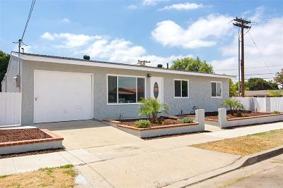 San Diego County Single Family Home For Sale: 8015 Anza Dr