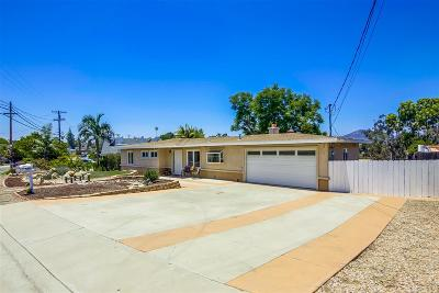 El Cajon Single Family Home For Sale: 1024 Hacienda Dr