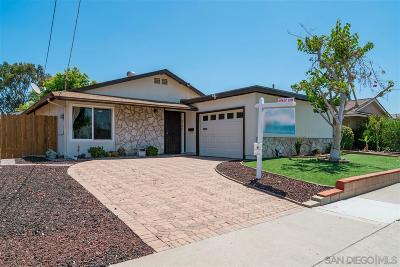San Diego Single Family Home Pending: 4738 Pauling Avenue