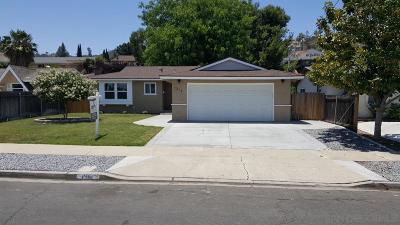 El Cajon Single Family Home For Sale: 1314 Finch St