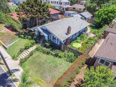 San Diego Single Family Home For Sale: 3613 Arnold Ave