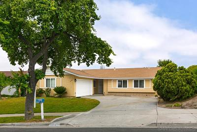 Oceanside Single Family Home For Sale: 3948 Wooster Dr
