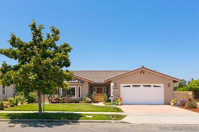 Escondido Single Family Home For Sale: 1659 Foxfire Pl