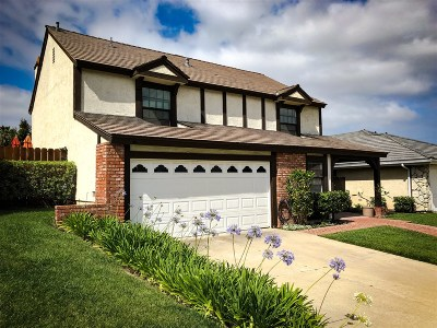 Carlsbad Single Family Home For Sale: 7513 Brava St