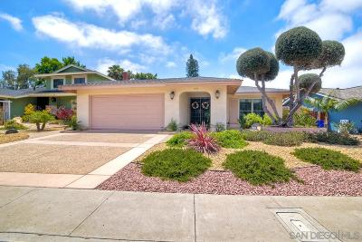 Clairemont Single Family Home For Sale: 6937 Petit St