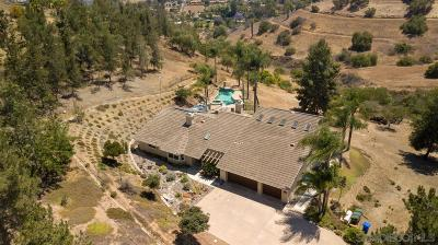 Escondido Single Family Home For Sale: 13921 Old San Pasqual