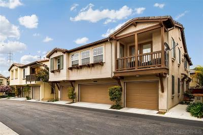 Chula Vista Townhouse For Sale: 263 Salinas Dr #156