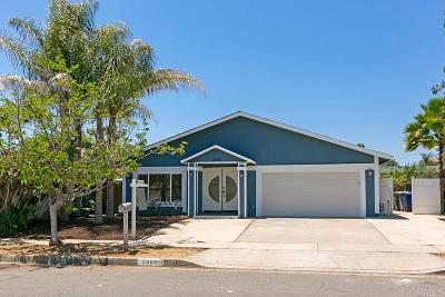 Escondido Single Family Home For Sale: 2300 Lee Ave