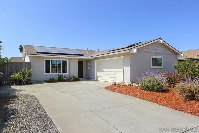 Escondido Single Family Home For Sale: 2005 Manchester Ave