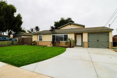 Chula Vista Single Family Home For Sale: 174 Landis Ave