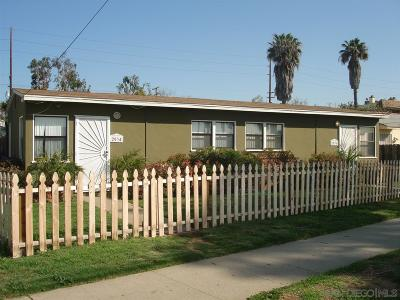 San Diego Multi Family 2-4 For Sale: 2034-36 Balboa Avenue