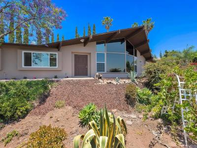 El Cajon Single Family Home For Sale: 1902 Hidden Mesa Rd