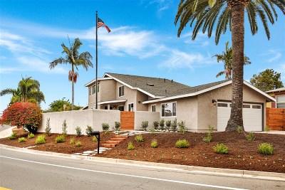 Oceanside Single Family Home For Sale: 1716 Soto Street