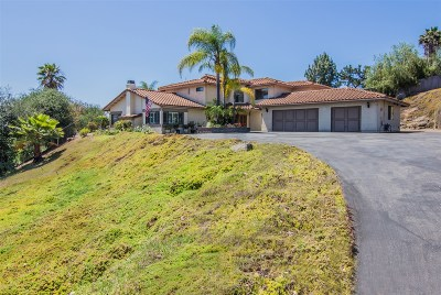 Escondido CA Single Family Home For Sale: $1,050,000