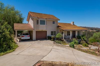 Ramona CA Single Family Home For Sale: $535,000