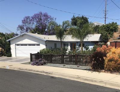San Diego CA Single Family Home For Sale: $519,000