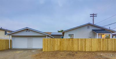 San Diego Single Family Home For Sale: 724 Harris Ave