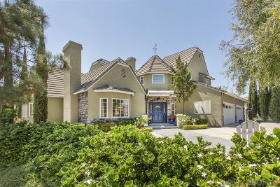 San Diego County Single Family Home Back On Market: 566 Merlot Pl