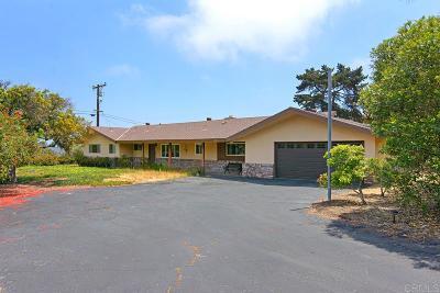 Encinitas Single Family Home For Sale: 1281 Crest Dr