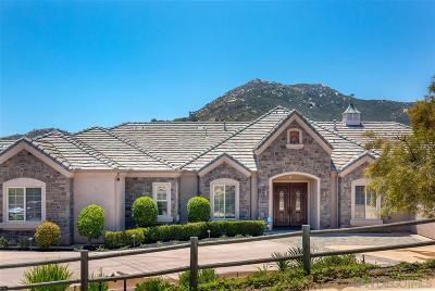 Poway Single Family Home For Sale: 15000 Saddlebrook Court